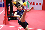 Chiharu Yano (JPN), <br /> AUGUST 29, 2018 - Sepak takroae : <br /> Women's Quadrant match <br /> at Jakabaring Sport Center Ranau Hall <br /> during the 2018 Jakarta Palembang Asian Games <br /> in Palembang, Indonesia. <br /> (Photo by Yohei Osada/AFLO SPORT)