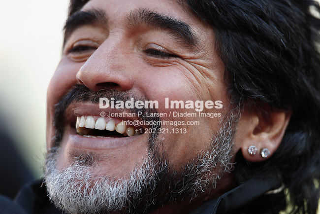 JOHANNESBURG - JUNE 17:  Argentina Coach Diego Maradona seen prior to a 2010 FIFA World Cup football match between Argentina and the Korea Republic June 17, 2010 in Johannesburg, South Africa.  NO mobile use.  Editorial ONLY.