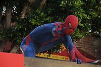 Spider Man at the premiere of Columbia Pictures' 'The Amazing Spider-Man' at the Regency Village Theatre on June 28, 2012 in Westwood, California. © mpi35/MediaPunch Inc. /*NORTEPHOTO.COM*<br /> **SOLO*VENTA*EN*MEXICO** **CREDITO*OBLIGATORIO** *No*Venta*A*Terceros*<br /> *No*Sale*So*third* ***No*Se*Permite*Hacer Archivo***No*Sale*So*third*©Imagenes*con derechos*de*autor©todos*reservados*.