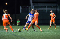 Allston, MA - Wednesday Aug. 31, 2016: Angela Salem, Carli Lloyd during a regular season National Women's Soccer League (NWSL) match between the Boston Breakers and the Houston Dash at Jordan Field.