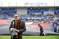 20130324 Copyright onEdition 2013©.Free for editorial use image, please credit: onEdition..Clem Booth, member of the Allianz Board of Management, speaks at the official opening of the stadium before the Premiership Rugby match between Saracens and Harlequins at Allianz Park on Sunday 24th March 2013 (Photo by Rob Munro)..For press contacts contact: Sam Feasey at brandRapport on M: +44 (0)7717 757114 E: SFeasey@brand-rapport.com..If you require a higher resolution image or you have any other onEdition photographic enquiries, please contact onEdition on 0845 900 2 900 or email info@onEdition.com.This image is copyright onEdition 2013©..This image has been supplied by onEdition and must be credited onEdition. The author is asserting his full Moral rights in relation to the publication of this image. Rights for onward transmission of any image or file is not granted or implied. Changing or deleting Copyright information is illegal as specified in the Copyright, Design and Patents Act 1988. If you are in any way unsure of your right to publish this image please contact onEdition on 0845 900 2 900 or email info@onEdition.com