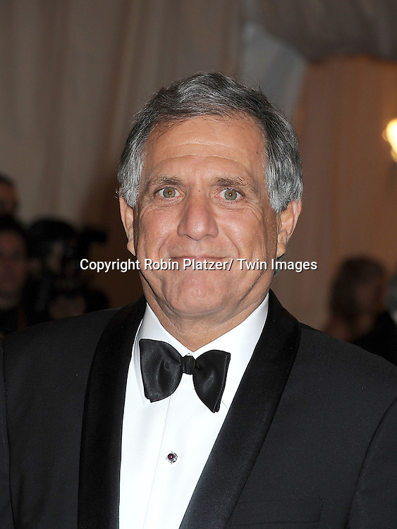 """Les Moonves attends the Costume Institute Gala Benefit celebrating """"Schiaparelli and Prada: Impossible Conversations"""".an exhibition at the Metropolitan Museum of Art in New York City on May 7, 2012."""