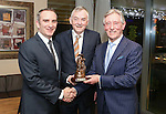 Pictured at the Limerick Sports Partnership Sports Awards were: Winner Donn O Sullivan, President of UL Don Barry and Jim Upton<br /> Picture  Credit Brian Gavin Press 22