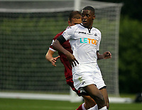 Pictured: Jordan Garrick of Swansea. Friday 11 August 2017<br /> Re: Premier League 2, Division 1, Swansea City U23 v Liverpool U23 at the Landore Training Ground, Swansea, UK