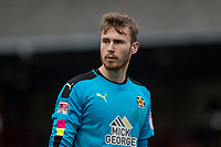 Will Norris of Cambridge United during the Sky Bet League 2 match between Cheltenham Town and Cambridge United at the LCI Stadium, Cheltenham, England on 18 March 2017. Photo by Mark  Hawkins / PRiME Media Images.