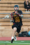 San Diego, CA 05/25/13 - Christopher Carter (Torrey Pines #16) in action during the 2013 CIF San Diego Section Open DIvision Boys Lacrosse Championship game.  Torrey Pines defeated La Costa Canyon 7-5.