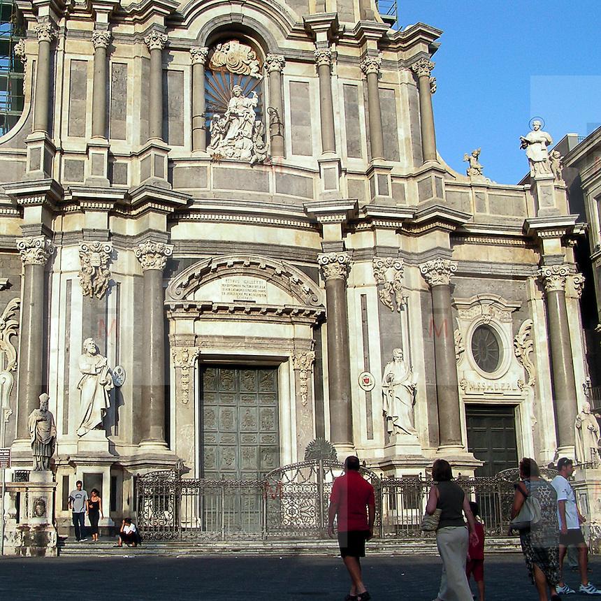 La facciata del Duomo di Catania..The facade of Dome in Catania