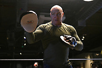 Dominic Ingle during a Media Workout at 12x3 Gym on 8th January 2020