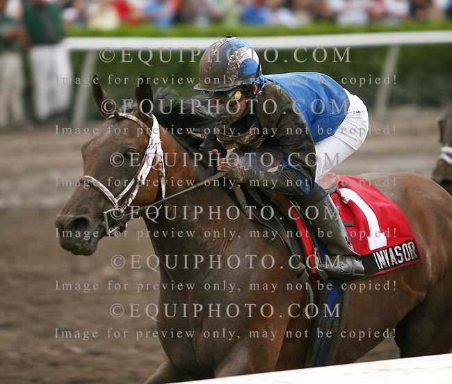 Invasor #1with Fernando Jara riding won the $500,000 Donn Handicap at Gulfstream Park at Gulfstream Park in Hallandale, FL on Saturday February 3, 2007. Photo By Bill Denver/EQUI-PHOTO.