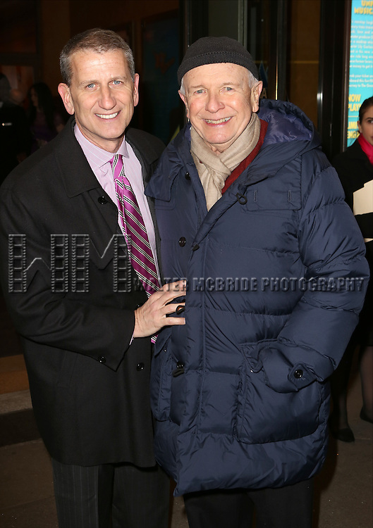 Tom Kirdahy and Terrence McNally  attends the Broadway Opening Night Performance of 'On the 20th Century'  at The American Airlines Theatre on March 12, 2015 in New York City.