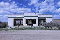 Abandoned Sinclair gas station west of Green River, Wyoming.