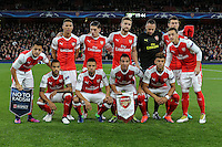 The Arsenal team ahead of the UEFA Champions League match between Arsenal and PFC Ludogorets Razgrad at the Emirates Stadium, London, England on 19 October 2016. Photo by David Horn / PRiME Media Images.