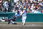 (R-L) Musashi Nishioka (Mie), Yuya Yokoi (Osaka Toin),<br /> AUGUST 25, 2014 - Baseball :<br /> 96th National High School Baseball Championship Tournament final game between Mie 3-4 Osaka Toin at Koshien Stadium in Hyogo, Japan. (Photo by Katsuro Okazawa/AFLO)3()