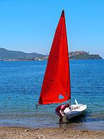 Wassersport, Spiaggia Bagnaia, Elba, Region Toskana, Provinz Livorno, Italien, Europa<br /> watersports, Beach Spiaggia Bagnaia, Elba, Region Tuscany, Province Livorno, Italy, Europe