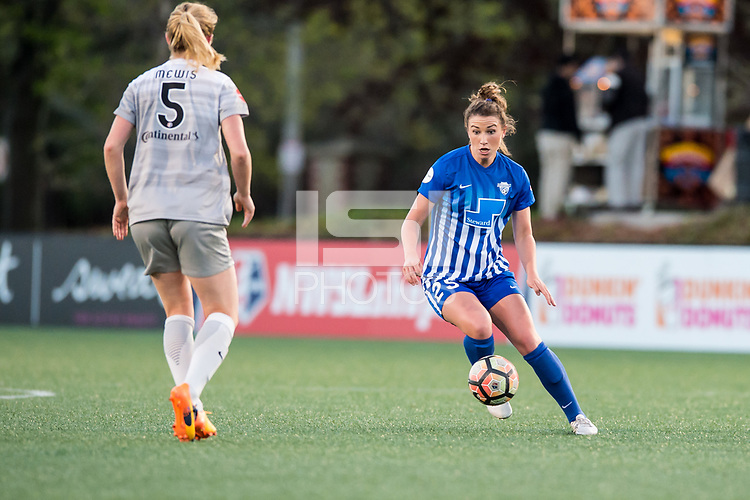 Boston, MA - Sunday May 07, 2017: Morgan Andrews during a regular season National Women's Soccer League (NWSL) match between the Boston Breakers and the North Carolina Courage at Jordan Field.