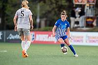 Boston, MA - Sunday May 07, 2017: Morgan Andrews during a regular season National Women's Soccer League (NWSL) match between the Boston Breakers and the North Carolina Courage at Jordan Field.