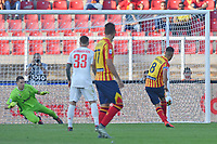 Marco Mancosu of US Lecce scores on a penalty kick  the goal of 1-1<br /> Lecce 26-10-2019 Stadio Via del Mare <br /> Football Serie A 2019/2020 <br /> US Lecce - FC Juventus<br /> Photo Carmelo Imbesi / Insidefoto