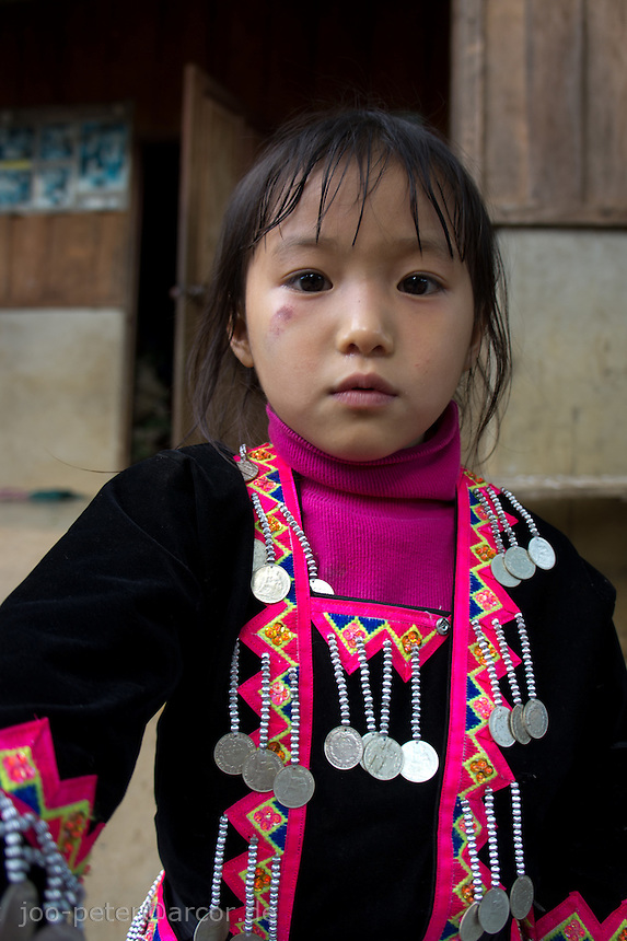 girl of Hmong tribe in village close to Luang Prabang, Laos, 2012