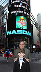 Dan lauria, Johnny Rabe  and the cast of 'A Christmas Story, The Musical'  ringing  the NASDAQ Stock Market Opening Bell at NASDAQ, Times Square in New York City on December 20, 2012
