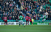 4th November 2017, Easter Road, Edinburgh, Scotland; Scottish Premiership football, Hibernian versus Dundee; Hibernian's Martin Boyle scores for 1-0