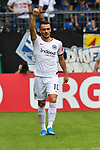 11.08.2019, Carl-Benz-Stadion, Mannheim, GER, DFB Pokal, 1. Runde, SV Waldhof Mannheim vs. Eintracht Frankfurt, <br /> <br /> DFL REGULATIONS PROHIBIT ANY USE OF PHOTOGRAPHS AS IMAGE SEQUENCES AND/OR QUASI-VIDEO.<br /> <br /> im Bild: Filip Kostic (Eintracht Frankfurt #10) jubelt ueber sein Tor zum 2:2 <br /> <br /> Foto © nordphoto / Fabisch