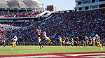 FSU wide receiver D'Anfernee McGriff makes a catch in the redone against ULM at Doak Campbell Stadium in Tallahassee, Florida during an NCAA football game September 7, 2019.  Florida State defeated ULM 45-44 in overtime.