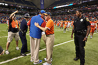 SAN ANTONIO, TX - NOVEMBER 30, 2013: The Louisiana Tech University Bulldogs versus the University of Texas at San Antonio Roadrunners Football at the Alamodome. (Photo by Jeff Huehn)