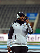 9th December 2017, St James Park, Newcastle upon Tyne, England; EPL Premier League football, Newcastle United versus Leicester City; Danny Simpson of Leicester City takes a photo of St James Park before the match