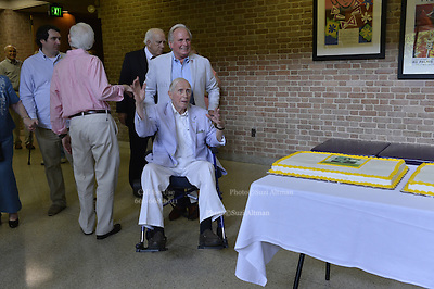 "Dean of Mississippi journalism Bill Minor is the star of a new documentary, by Ellen Ann Fintress. The film is based on Minor's book ""Eyes on Mississippi"" a collection of 50 years of writing about Mississippi politics and civil rights. The new documentary was screened for the first time June 14, 2015. Minor celebrated his 93 birthday just days ago and still writes a weekly syndicated column. Photo © Suzi Altman"