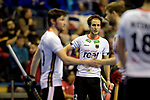 Berlin, Germany, February 09: During the FIH Indoor Hockey World Cup Pool A group match between Germany (white) and Trinidad and Tobago(red) on February 9, 2018 at Max-Schmeling-Halle in Berlin, Germany. Final score 10-2. (Photo by Dirk Markgraf / www.265-images.com) *** Local caption *** Marco MILTKAU #22 of Germany