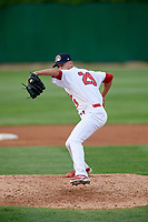 Peoria Chiefs relief pitcher Austin Sexton (29) delivers a pitch during a game against the West Michigan Whitecaps on May 9, 2017 at Dozer Park in Peoria, Illinois.  Peoria defeated West Michigan 3-1.  (Mike Janes/Four Seam Images)