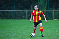 20200819, Sint-Amandsberg , GENT , BELGIUM : Lens's defender Andrea Prette (13) pictured during a friendly soccer game between KAA Gent ladies and RC Lens ladies in the preparations for the coming season 2020 - 2021 of Belgian Women's SuperLeague and French second division , Wednesday 19 th of August 2020 in JAGO Sint-Amandsberg / Gent, Belgium . PHOTO SPORTPIX.BE | STIJN AUDOOREN