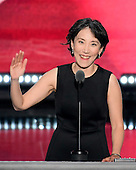 Dr. Lisa Shin, National Diversity Coalition for Trump, makes remarks at the 2016 Republican National Convention held at the Quicken Loans Arena in Cleveland, Ohio on Thursday, July 21, 2016.<br /> Credit: Ron Sachs / CNP<br /> (RESTRICTION: NO New York or New Jersey Newspapers or newspapers within a 75 mile radius of New York City)