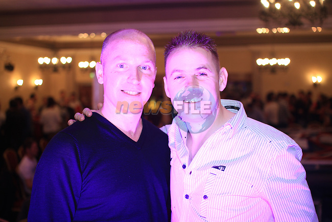 Ian and Gareth Hackett at the White Collar Boxing in the Westcourt..Picture: Shane Maguire / www.newsfile.ie