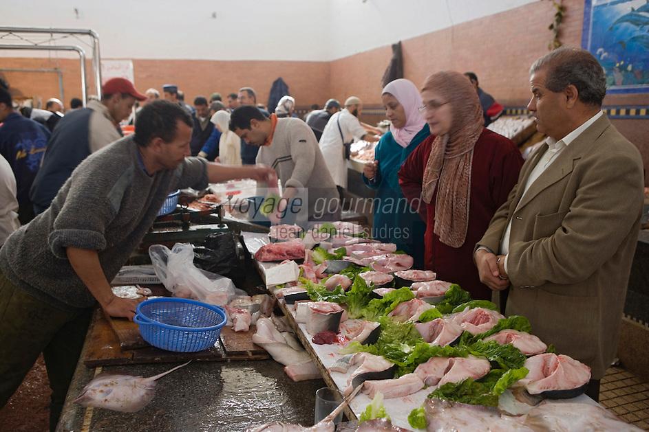 Afrique/Afrique du Nord/Maroc/Rabat: le marché central étal des poissonniers - thon