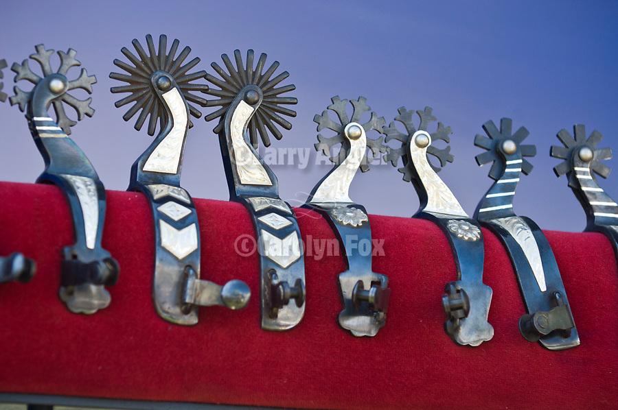 Jordan Valley Big Loop Rodeo..Silver spurs for sale