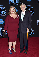 LOS ANGELES, CA - NOVEMBER 29: Dick Van Dyke (R) and Arlene Silver attend the Premiere Of Disney's 'Mary Poppins Returns' at El Capitan Theatre on November 29, 2018 in Los Angeles, California.<br /> CAP/ROT/TM<br /> &copy;TM/ROT/Capital Pictures
