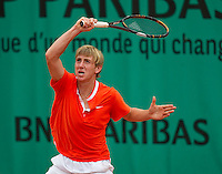 John Morrissey (IRE) against Micke Kontinen (FIN) in the first round of the boys singles..Tennis - French Open - Day 8 - Sun 30 May 2010 - Roland Garros - Paris - France..© FREY - AMN Images, 1st Floor, Barry House, 20-22 Worple Road, London. SW19 4DH - Tel: +44 (0) 208 947 0117 - contact@advantagemedianet.com - www.photoshelter.com/c/amnimages
