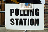 Polling station in Camden, North London, on the day of the 2005 General Election.