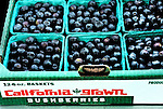 Blueberries at the Farmer's Market in San Luis Obispo, California
