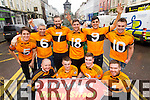 Members of the Austin Stacks football club at the launch of the Tralee New Years Eve celebrations. Front from left: Darragh Long, Sean Ryan, Greg Horan and Brian Mangan. Back from left: Ronan Shanahan, Stephen Stack, Daniel Bohane, Denis McElligott, Wayne Gutterie and William Kirby