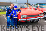 Brian & Luke O'Connor with their 1972; Mark 1; mark 1Ford Capri Pictured at the Vintage car rally in Ballybunion on Sunday