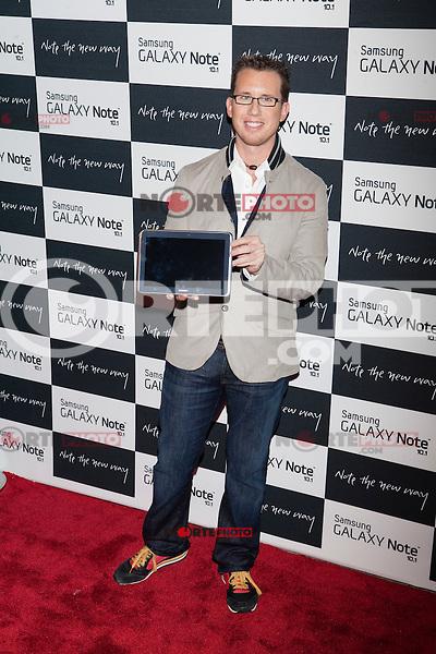Author Trey Ratcliff attends the Samsung Galaxy Note 10.1 Launch Event in New York City, August 15, 2012. ©Diego Corredor/MediaPunch Inc. /NortePhoto.com<br /> <br /> **CREDITO*OBLIGATORIO** *No*Venta*A*Terceros*<br /> *No*Sale*So*third* ***No*Se*Permite*Hacer*Archivo***No*Sale*So*third*