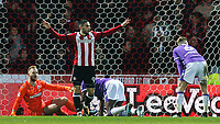 Brentford's Neal Maupay celebrates scoring his side's second goal <br /> <br /> Photographer Alex Dodd/CameraSport<br /> <br /> The EFL Sky Bet Championship - Brentford v Bolton Wanderers - Saturday 13th January 2018 - Griffin Park - Brentford<br /> <br /> World Copyright &copy; 2018 CameraSport. All rights reserved. 43 Linden Ave. Countesthorpe. Leicester. England. LE8 5PG - Tel: +44 (0) 116 277 4147 - admin@camerasport.com - www.camerasport.com