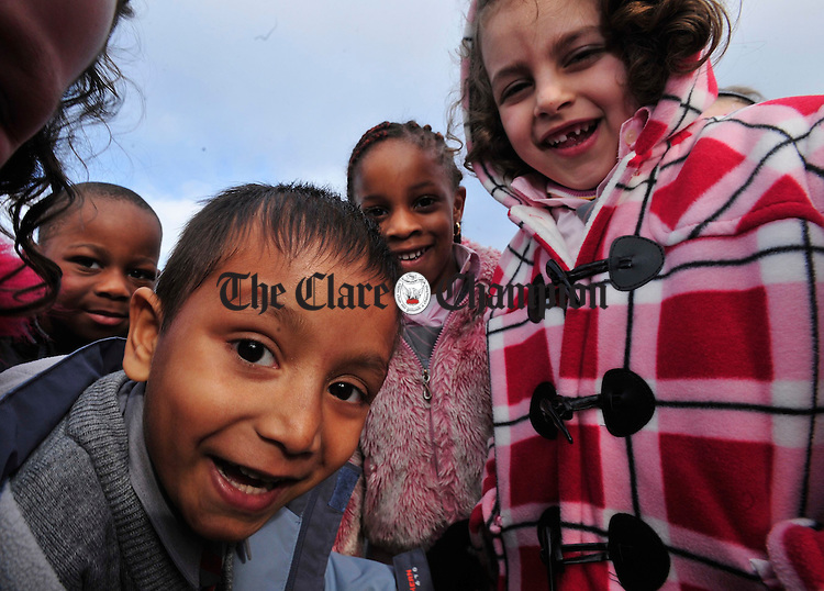 Mohammed Humayun and friends in the playground.