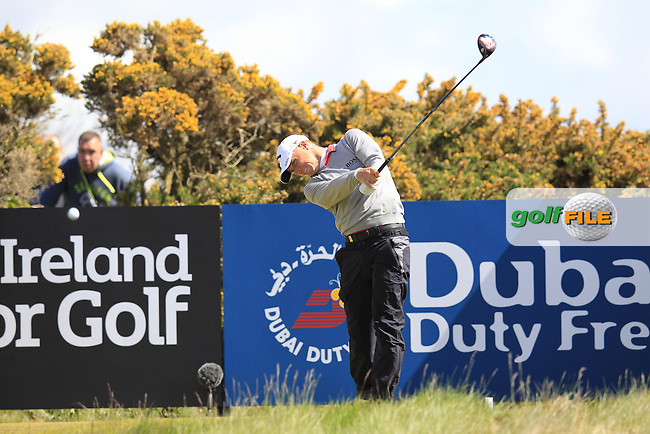 Alex NOREN (SWE) tees off the 18th tee during Friday's Round 2 of the 2015 Dubai Duty Free Irish Open, Royal County Down Golf Club, Newcastle Co Down, Northern Ireland 5/29/2015<br />  Picture Eoin Clarke, www.golffile.ie