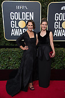 Nominated for BEST PERFORMANCE BY AN ACTRESS IN A SUPPORTING ROLE IN A MOTION PICTURE for her role in &quot;Lady Bird,&quot; actress Laurie Metcalf and Zoe Perry attend the 75th Annual Golden Globes Awards at the Beverly Hilton in Beverly Hills, CA on Sunday, January 7, 2018.<br /> *Editorial Use Only*<br /> CAP/PLF/HFPA<br /> &copy;HFPA/PLF/Capital Pictures
