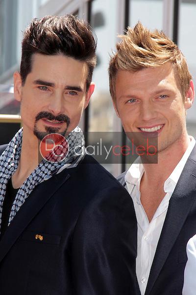 "Kevin Richardson, Nick Carter<br /> at the ""Backstreet Boys"" Star on the Walk of Fame, Hollywood, CA 04-22-13<br /> David Edwards/Dailyceleb.com 818-249-4998"