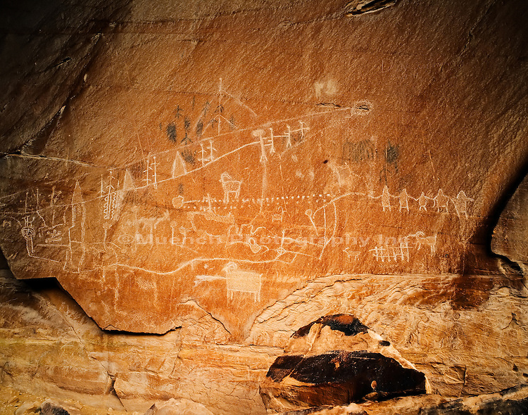 Petroglyph panel, Buckskin Canyon, Moab area