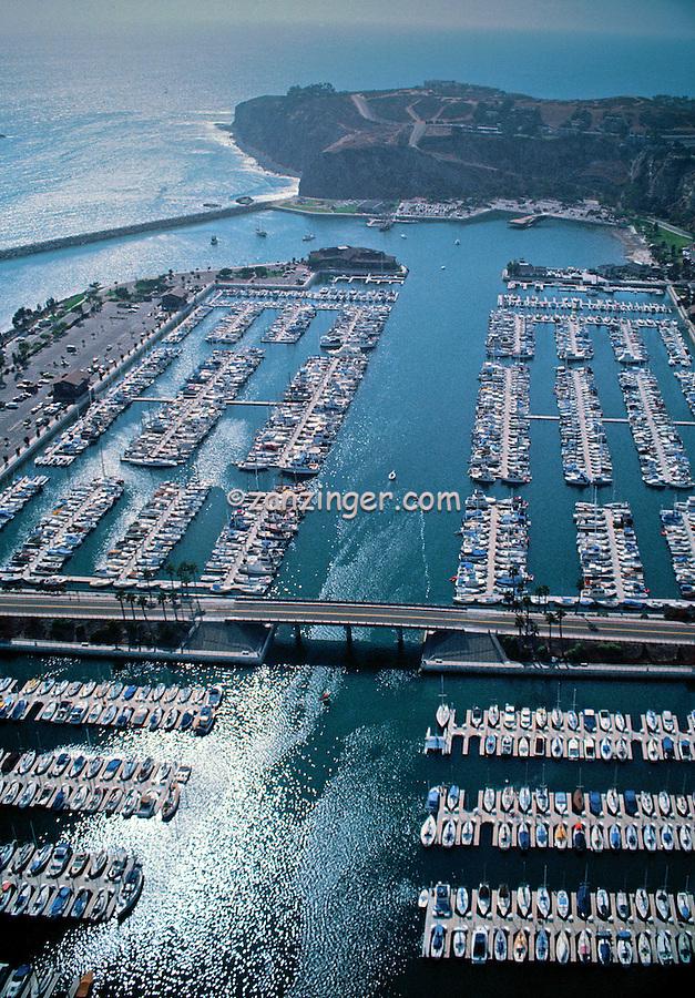 Dana Point, CA, Harbor Marina, Embarcadero Marina, Aerial View
